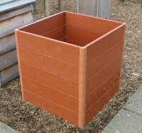 A basic plastic compost bin. Click picture to enlarge. Copyright David Marks.
