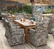 Barn cafe seating area