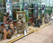 Display of water features at Bents garden centre