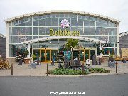 Entrance to dobbies Garden centre at Ayr