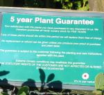 Five year guarantee for hardy plants