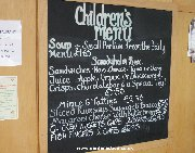 Children's menu at the Dobbies Sandyholm cafe