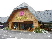 Entrance to Dobbies Garden Centre at Shepton Mallet