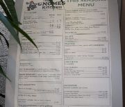 Menu at Gnome's Kitchen