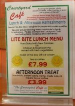 Special offer at Courtyard Cafe