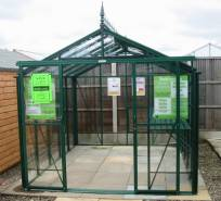 Traditional shaped greenhouse. Click to nelarge. Copyright David Marks